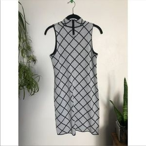 Romeo & Juliet Couture knit grid turtleneck dress
